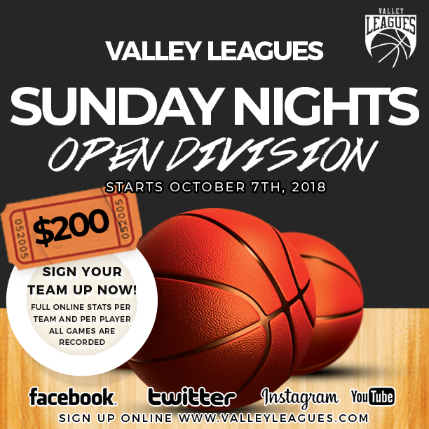 Valley Leagues Fall 2018 Sunday Night IG